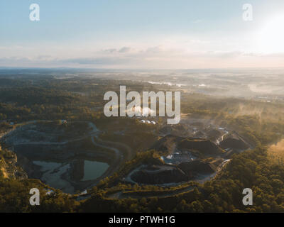 Drone Shot of a quarry - Stock Photo