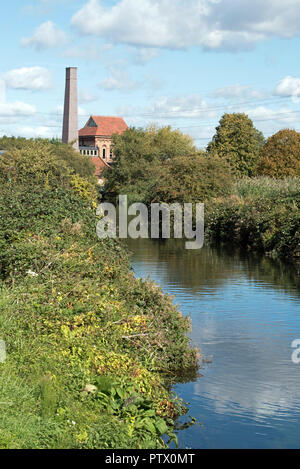 Walthamstow Wetlands, Marine Engine House, previously Ferry Lane pumping Station with Swift tower London Borough of Walthams Forest England Britain UK - Stock Photo