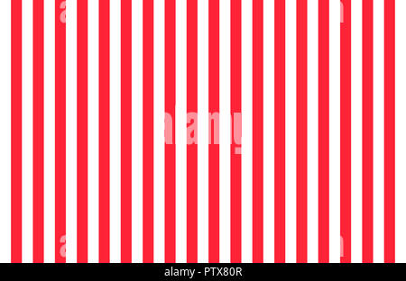 Pattern of vertical, same size black and white stripes with copy space, seamless design of symmetrical lines forming pleasing, optical pattern - Stock Photo