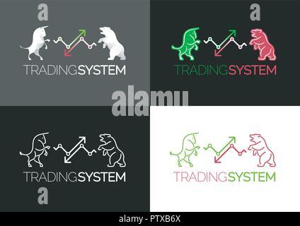 Trading System Emblem - Stock Photo