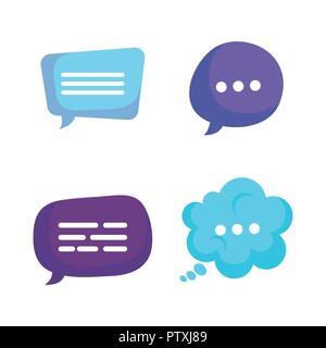 group of speech bubbles - Stock Photo