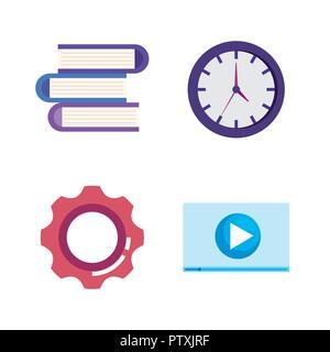 marketing seo set icons - Stock Photo