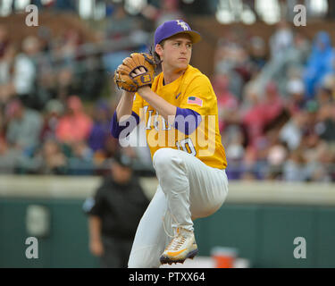 Mississippi, USA.  30th Mar, 2019. in action during the NCAA baseball game between the LSU Tigers and the Mississippi State Bulldogs at Dudy Noble Field in Starkville, MS. LSU defeated Mississippi State, 11-2. Kevin Langley/Sports South Media/CSM/Alamy Live News - Stock Photo