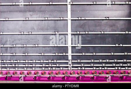 Production of PVC windows and double-glazed windows, a line for washing and drying glass for the production of insulating glass units, machine - Stock Photo