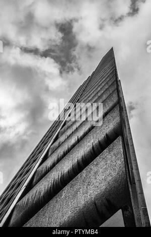 Low angle view of the Lauderdale tower, Barbican, City of London, UK. - Stock Photo