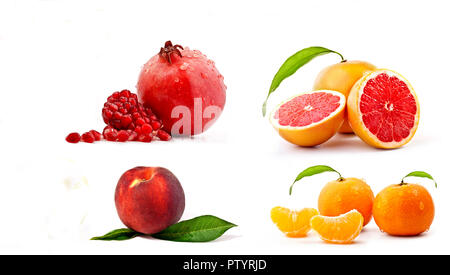 Different types of summer fruits - Stock Photo