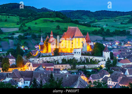 Biertan, Romania. Saxon village with the fortified church in Transylvania. - Stock Photo