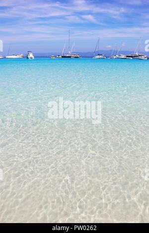 landscape of Voutoumi beach Antipaxos Ionian islands Greece - Stock Photo