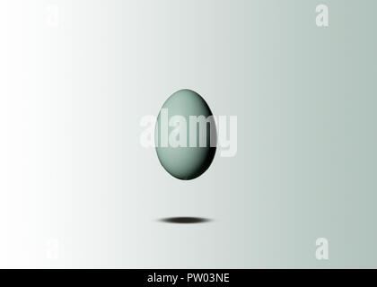 A group of Birds Eggs, Ostrich, Easter Egger, Turkey, Geese, Duck, Quail - Stock Photo