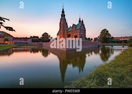 Rosenborg Castle in Copenhagen, Denmark - Stock Photo
