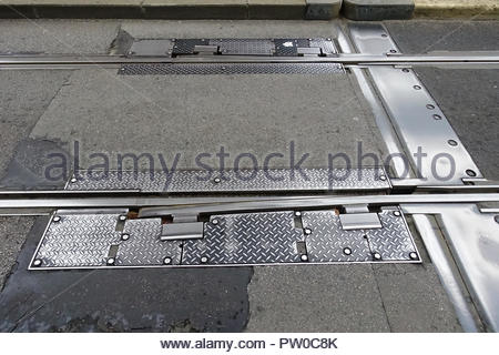 Brest, Tramway, Linie A, Pont de Recouvrance, Auszugsvorrichtung - Stock Photo