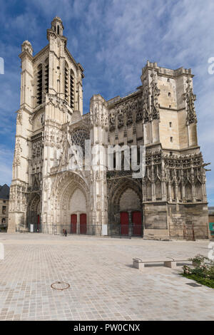 Saint Peter and Paul Cathedral at Troyes, France - Stock Photo
