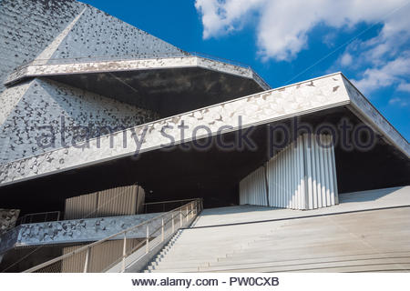 Paris, La Villette, Philharmonie, Architekt Jean Nouvel (Die Philharmonie de Paris ist der derzeit grösste Konzertsaal in Paris für klassische Musik u - Stock Photo