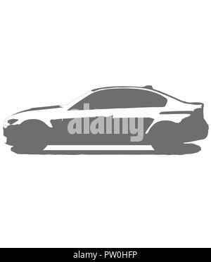 Bmw m3 logo, isolated in black and white vector racecar - Stock Photo