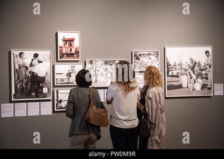 Roma, Italy. 11th Oct, 2018. Inauguration of the exhibition 'Il sorpasso. Quando l'Italia si mise a correre, 1946-1961' at the Museum of Rome in Palazzo Braschi Credit: Matteo Nardone/Pacific Press/Alamy Live News - Stock Photo