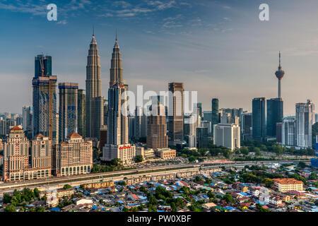 City skyline, Kuala Lumpur, Malaysia - Stock Photo