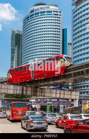 KL Monorail train, Kuala Lumpur, Malaysia - Stock Photo