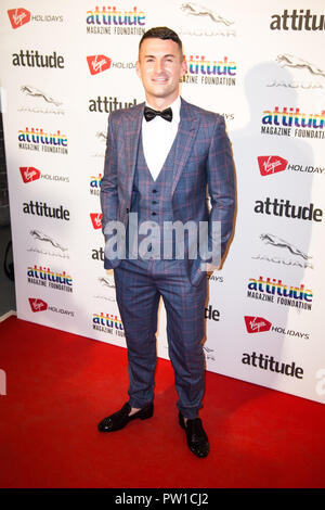 London, UK. 10th Oct 2018. The VIRGIN HOLIDAYS ATTITUDE AWARDS POWERED BY JAGUAR at Roundhouse, Chalk Farm Rd, Camden Town, London on the 11th October 2018. Credit: Tom Rose/Alamy Live News - Stock Photo