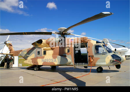 Sikorsky S-92 helicopter Serial 92-0004 Register N492SA used by Sikorsky Helicopters. Prototype test aircraft at Farnborough International Airshow - Stock Photo