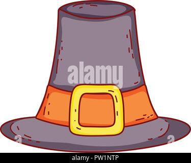 Vintage hat drawing - Stock Photo