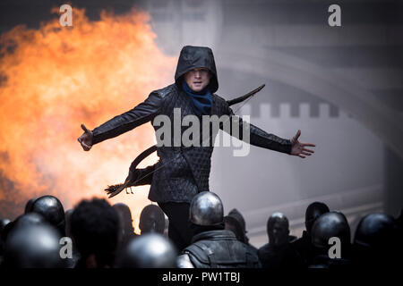 RELEASE DATE: November 21, 2018 TITLE: Robin Hood STUDIO: Lionsgate DIRECTOR: Otto Bathurst PLOT: A gritty take on the classic Robin Hood story. STARRING: TARON EGERTON as Robin. (Credit Image: © Lionsgate/Entertainment Pictures) - Stock Photo