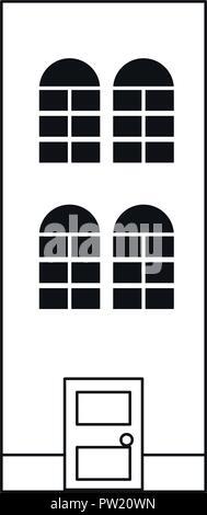 antique classic architecture building image vector illustration - Stock Photo