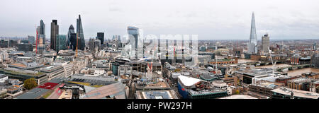Panoramic View Looking East from St. Paul's Cathedral - Stock Photo