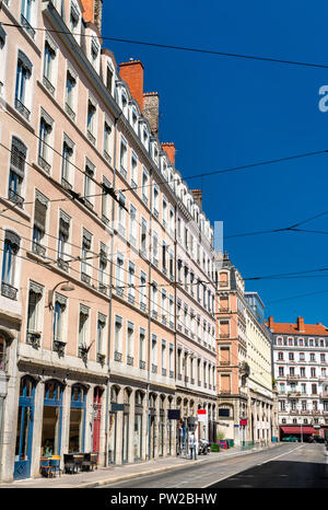 French architecture in the 1st arrondissement of Lyon - Rhone-Alpes, France - Stock Photo