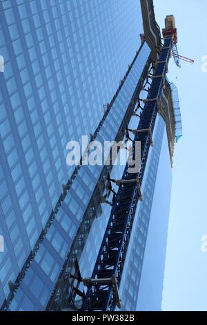 Building construction of 22 Bishopsgate - Stock Photo