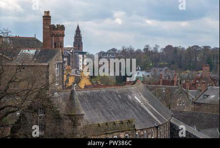 View from Dean Bridge ,Water of Leith, Edinburgh, Scotland, United Kingdom - Stock Photo