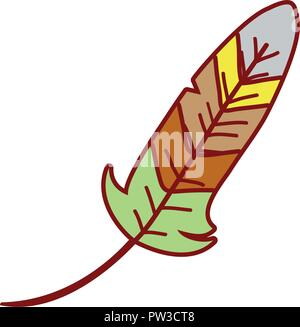 Turkey feather cartoon - Stock Photo