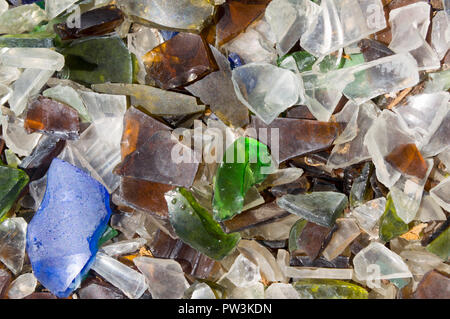 Broken shards of glass - Stock Photo