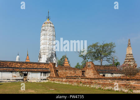 The prang at Wat Phutthaisawan, Ayuthaya, Thailand - Stock Photo