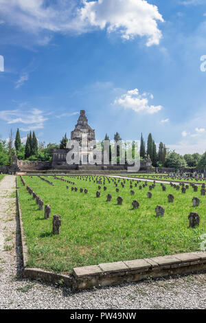 Cemetery of Crespi d'Adda, Capriate San Gervasio, Bergamo, Lombardy / Italy - June 15 2018 - Stock Photo