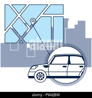 GPS tracking technology - Stock Photo