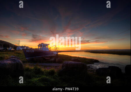Penclawdd sunset - Stock Photo