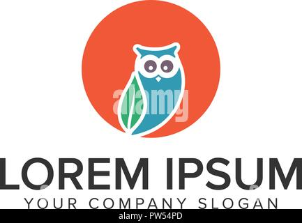 Owl logo design concept template. - Stock Photo