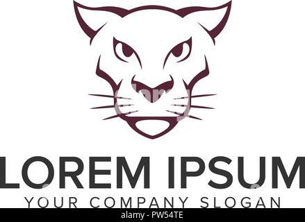 Tiger Roar Logo Design Concept Template Stock Vector Art