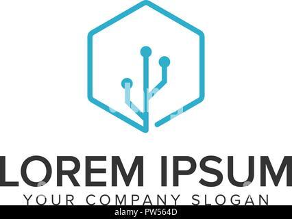 Conection usb logo design concept template. - Stock Photo