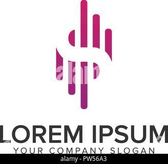 Letter S modern logo, signal logo design concept template. - Stock Photo