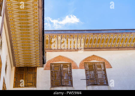 Istanbul, Tirkey, September 2018: Canopy of the main building in Topkapi Palace