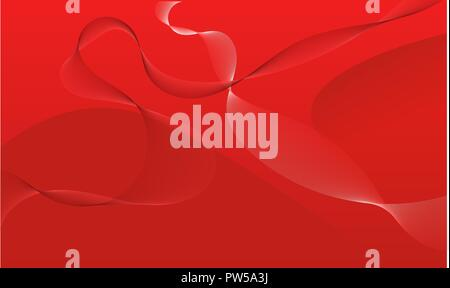 Red abstract background full of various shapes - Stock Photo