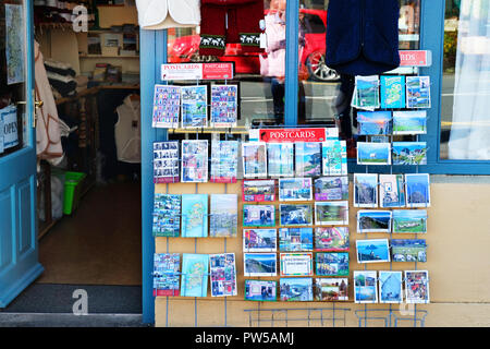 Outdoor display of postcards outside a tourist shop on the Ring of Kerry, Ireland - John Gollop - Stock Photo