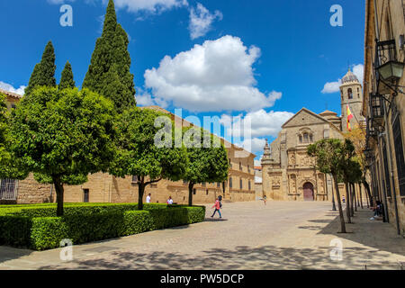 Exterior of the chapel of the Savior / Sacra Capilla del Salvador, Ubeda, Jaen, Spain. layout embodies the full funerary symbolism of the rotunda as a - Stock Photo