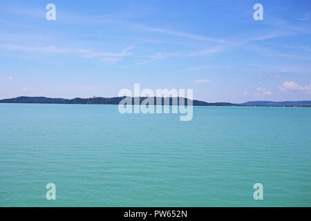 Balaton lake Hungary summer 2018 Europe. Sunny hot day near water. - Stock Photo