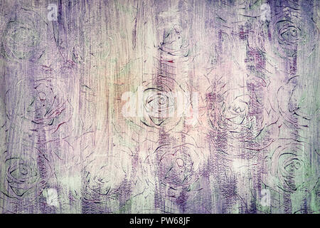 abstract spotted vintage background with ornamental roses - Stock Photo