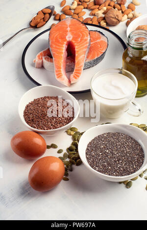 Healthy fat source. Healthy food - Stock Photo