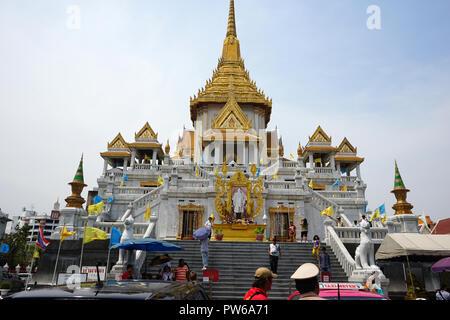 Wat Traimit, Wat Traimit Withayaram Worawihan, Tempel des Goldenen Buddha, Bezirk Samphanthawong, Chinatown, Chinesisches Viertel, Bangkok, Thailand, - Stock Photo