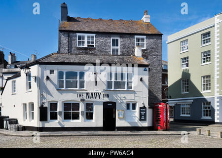 2 June 2018: Plymouth, Devon, UK - The Navy Inn on the waterfront in Plymouth Barbican. - Stock Photo