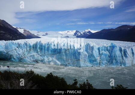 Perito Moreno Glacier - the third largest ice field in the world, a glacier located in the Los Glaciares National Park in Patagonia, Argentina. - Stock Photo